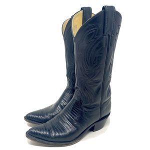 "Justin Boots ""Teju"" 4705 Western Cowgirl Lizard 5"